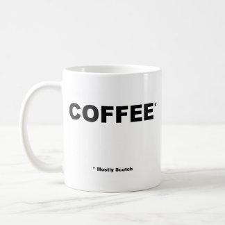 En grande partie tasse écossaise de Coffe