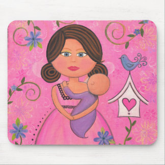 En harmonie - mère et bébé Mousepad lunatique Tapis De Souris