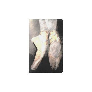 En Pointe ballet shoes notepad Pocket Moleskine Notebook