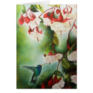 En Pointe Hummingbird Greeting Card