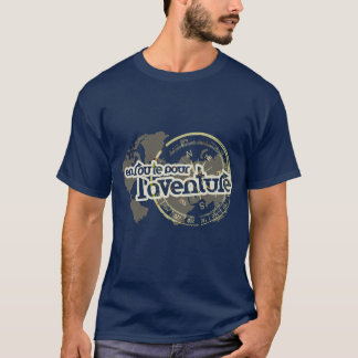 en route pour l'aventure french phrase t-shirt