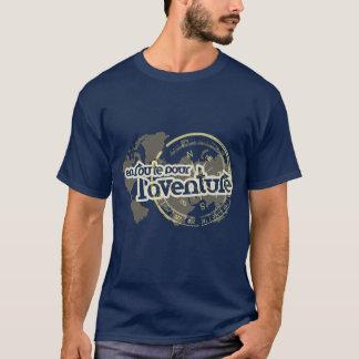 en route pour l'aventure french phrase t-shirt