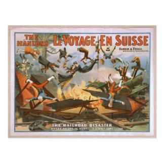 En Suisse de LeVoyage le chemin de fer Disaster Cartes Postales