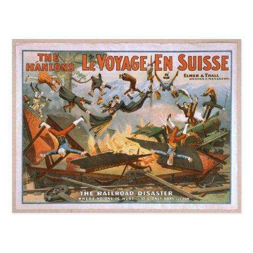 En Suisse de LeVoyage, 'le chemin de fer Disaster Cartes Postales