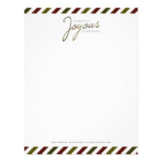 En-tête de lettre joyeux de Personalizable de rayu