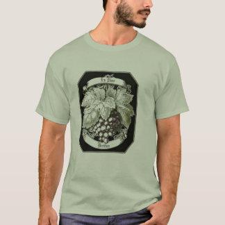 En Vino Veritas (in wine is truth) vintage print T T-Shirt