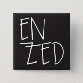 """En Zed"" New Zealand 2 Inch Square Button"