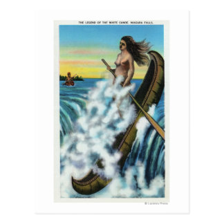Enactment of the Legend of the White Canoe Postcard