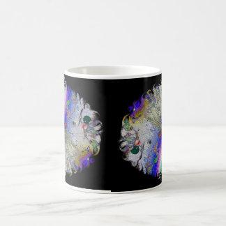 Enamel Sunburst with Oval Frame Classic White Coffee Mug