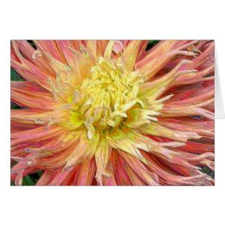 Enameled Dahlia Bloom Birthday Card