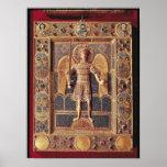 Enamelled plaque depicting the Archangel Michael Poster