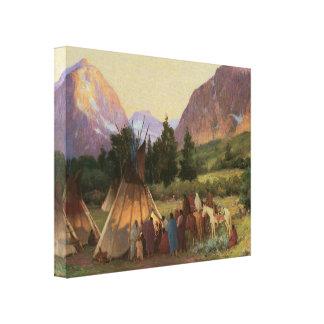 Encampment Montana 1902 Wrapped Canvas