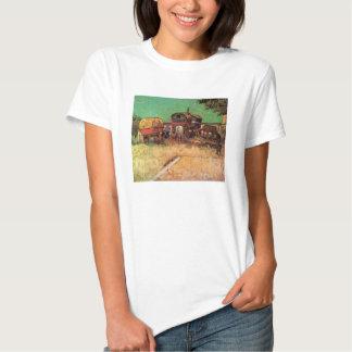 Encampment of Gypsies w Caravans; Vincent van Gogh Tee Shirt