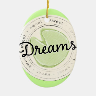 enchant-circle-dreams SWEET BEAUTY MOTIVATIONAL FA Ceramic Oval Ornament