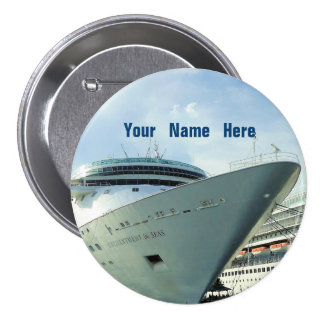 Enchanted Bow Personalized 3 Inch Round Button