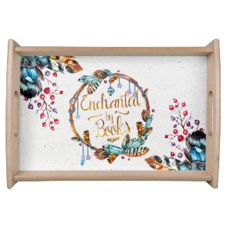 Enchanted by Books Serving Tray