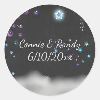 Enchanted Chalkboard Wedding Sticker