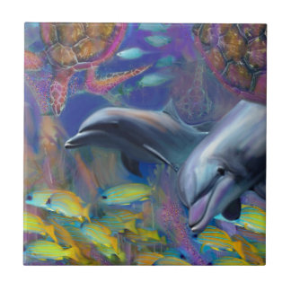 Enchanted Dolphins Ceramic Tiles