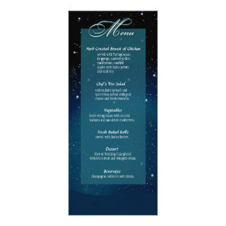 Enchanted Evening Nighttime Wedding Menu Personalized Invitations