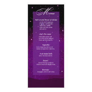 Enchanted Evening Nighttime Wedding Menu Personalized Announcement