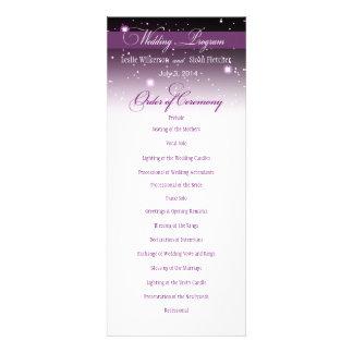 Enchanted Evening Nighttime Wedding Program Personalized Invitations