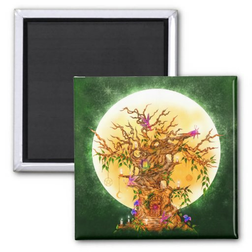 Enchanted Faerie Tree Magnet