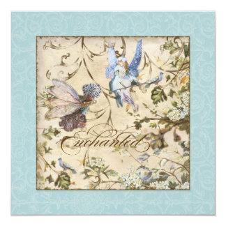 Enchanted Faeries Fairies Floral Vintage Weddings Card