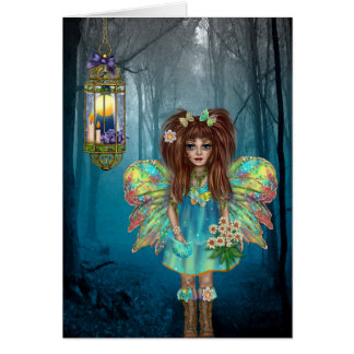 Enchanted Fairy and Flowers All Occasion Card