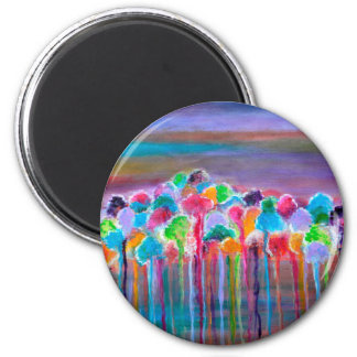 Enchanted forest 2 inch round magnet