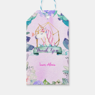 Enchanted Forest Fantasy Magical Unicorn Party Gift Tags