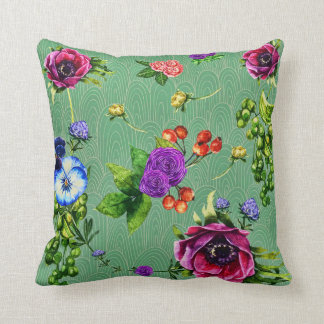 Enchanted Forest Floral Throw Pillow