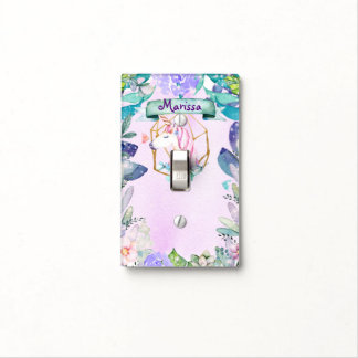 Enchanted Forest Leaves Fantasy Magical Unicorn Light Switch Cover