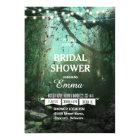 Enchanted Forest Lights Rustic Bridal Shower Card