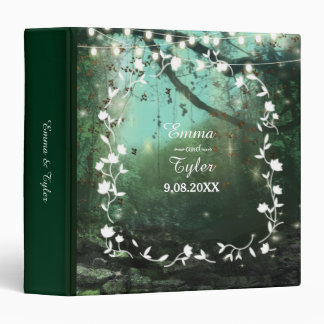 Enchanted Forest Lights Rustic Wedding 3 Ring Binder