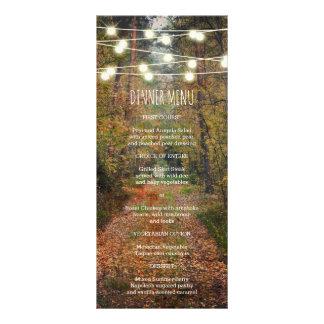 Enchanted Forest Path Wedding Slim Dinner Menu