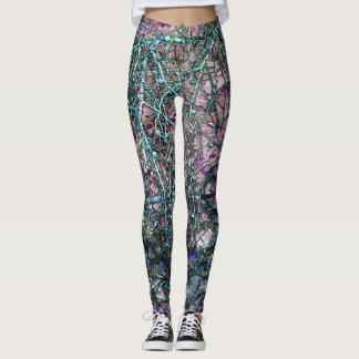 Enchanted Forest: purple dusk Leggings