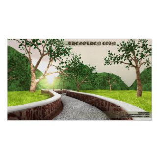 """Enchanted forest scene from """"The Golden Coin"""" Poster"""