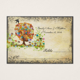 Enchanted Forest Side Branch Wedding Business Card