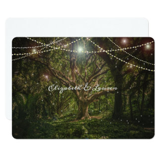 Enchanted Forest,String Lights, Wedding Invitation