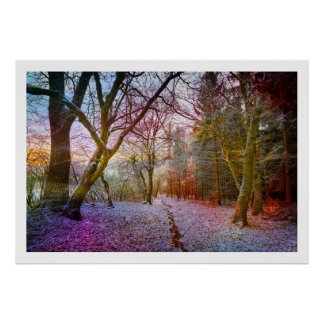 Enchanted Forest Winter Landscape Poster