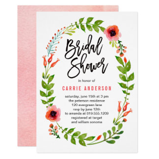 Enchanted Garden Bridal Shower Invitation