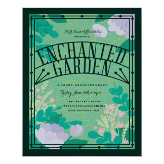 Enchanted Garden Event Poster