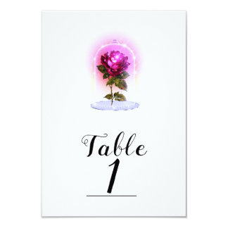 Enchanted Magical Storybook Red Rose Table Number
