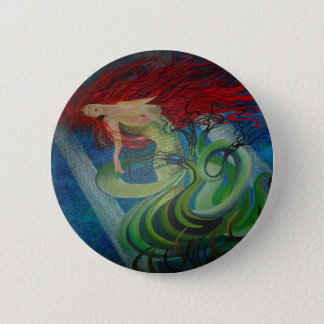 Enchanted Mermaid 2 Inch Round Button