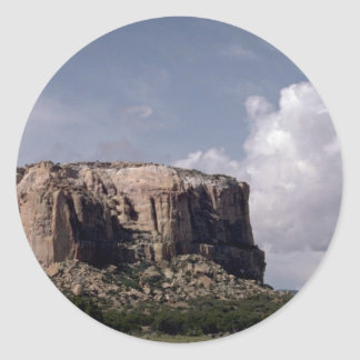 Enchanted Mesa, America's southwest rock formation Round Sticker