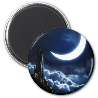 Enchanted Moon 2 Inch Round Magnet