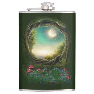 Enchanted Moon Tree 8 oz Vinyl Wrapped Flask