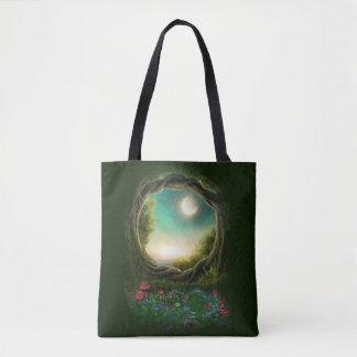 Enchanted Moon Tree All-Over-Print Tote Bag