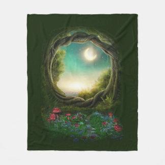 Enchanted Moon Tree Fleece Blanket