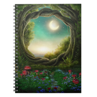 Enchanted Moon Tree Notebook